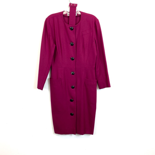 Vintage Jacque Gevertz Wool Coat Dress- Thumbnail
