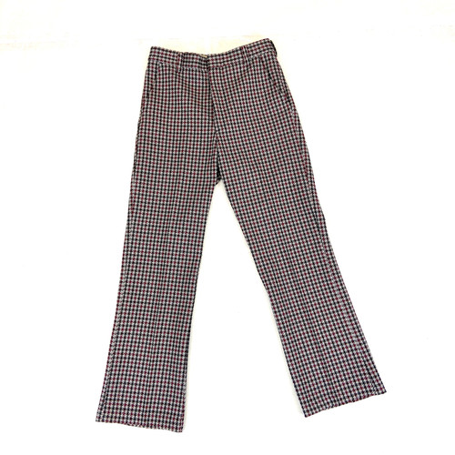 Vintage Tri-color Houndstooth Trousers- Front