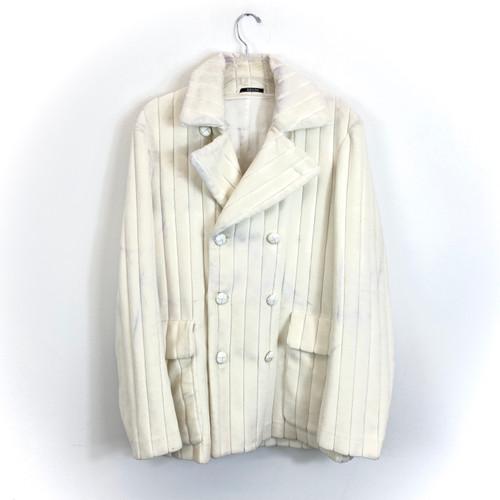 Maison Martin Margiela Quilted Velvet Coat- Thumbnail