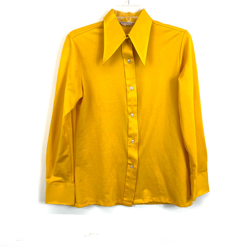 Vintage Goldrush Pointed Collar Button Down- Front