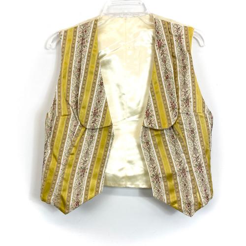 Vintage Pastel Brocade Vest- Front