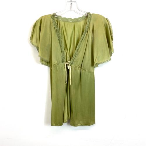 Vintage Flutter Sleeve Tie Front Night Shirt- Front