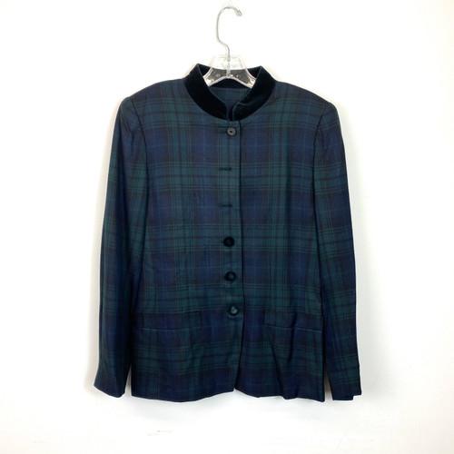 Vintage Le Suit Paris New York Plaid Blazer- Thumbnail