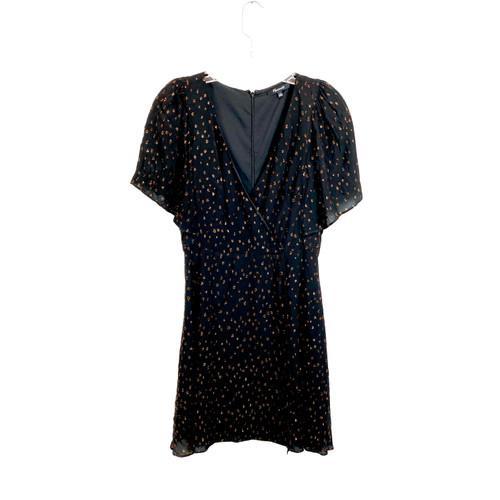 Madewell Metallic Dots Mini Dress - Front