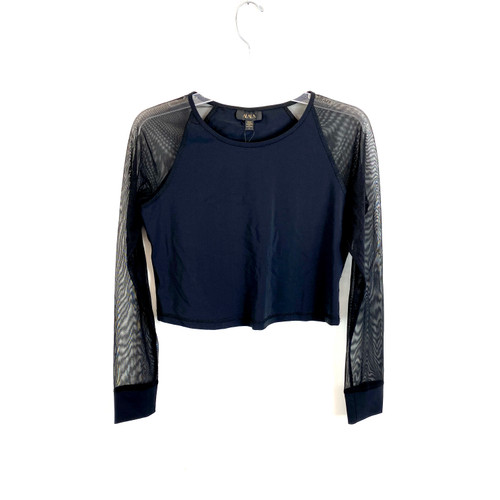 ALALA Mesh Sleeve Work Out Crop - Front