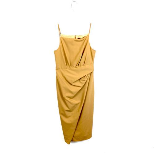 Sies Marjan Gwyneth Tropical Wool Drape Sleeveless Dress- Front