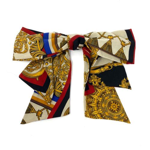 Scarf Tie Barette- Front