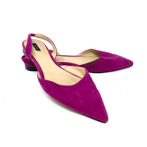 Mango Pointed Toe Slingbacks- Front