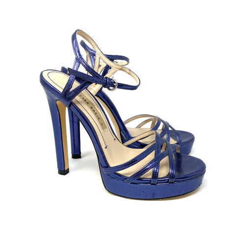 Zara Strappy Metallic Platform Sandals- Right