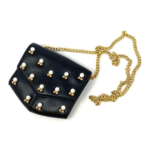 Sandro Pearl Embellished Crossbody Bag- Thumbnail