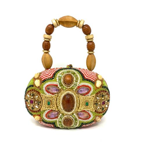 Mary Frances Beaded Mindaudiere Handbag- Front