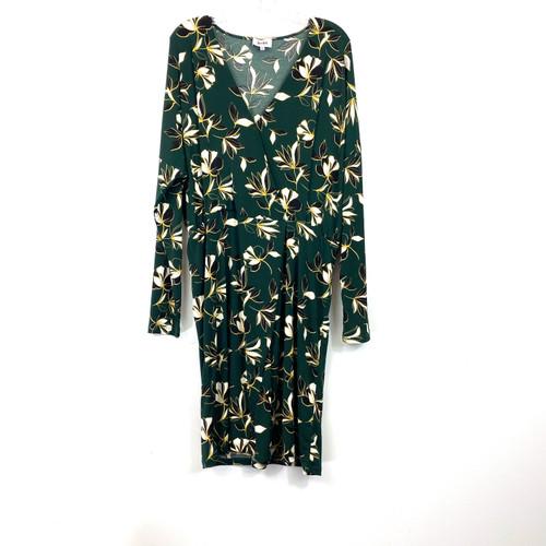 Leota Floral Print Wrap Front Dress- Front