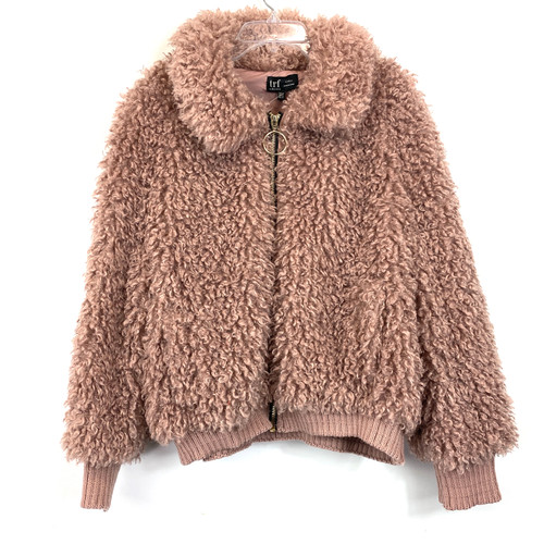 Zara Fuzzy Faux Fur Cropped Jacket- Front