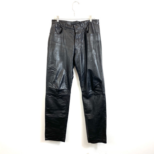 DKNY Leather Pants- Front