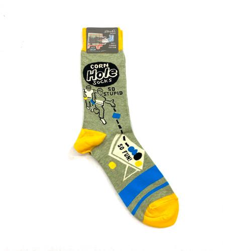 Blue Q Corn Hole Socks- Front