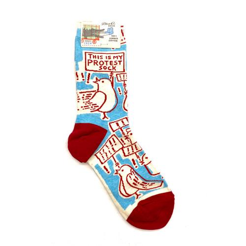Blue Q Protest Socks- Front