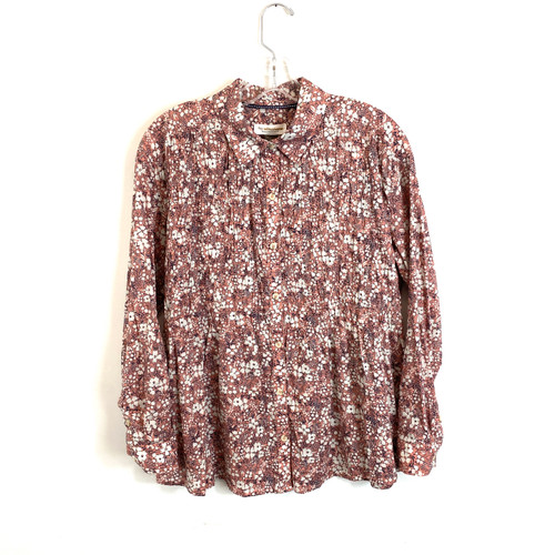 Pilcro by Anthropologie Floral Stitched Blouse- Front