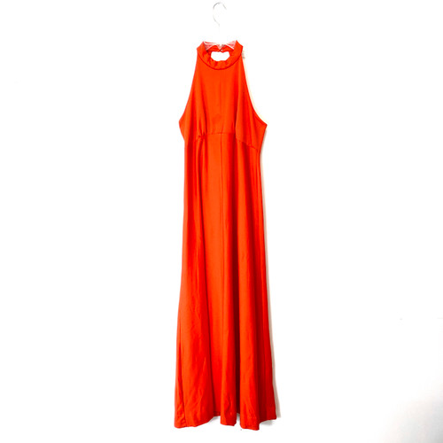Vintage 70's Halter Neck Maxi Dress- Front