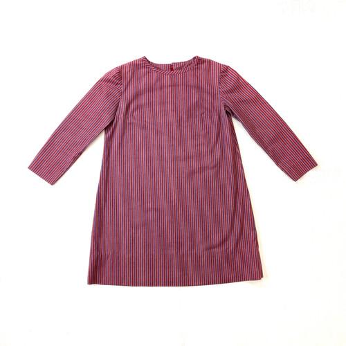 Vintage Vertical Stripe Lightweight Mini Dress- Thumbnail