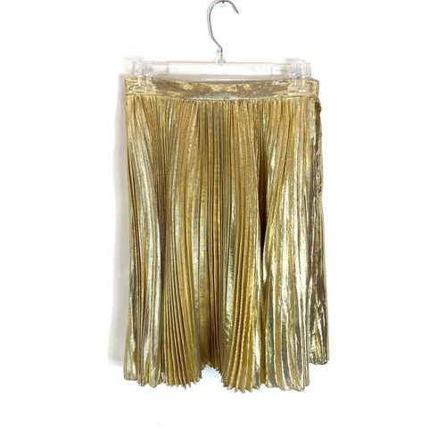 Vintage Farinae Collections Pleated Lame Mini Skirt- Front