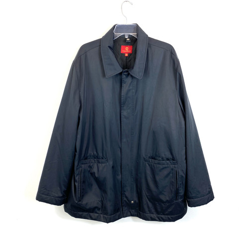 Cole Haan Nylon Blend Oxford Jacket- Front