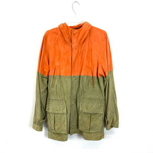 Sannino Napoli Two Tone Leather Jacket- Front