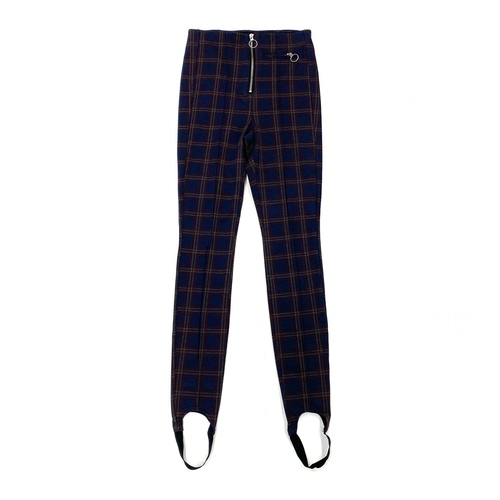 [BLANKNYC] Plaid Skinny Fit Stirrup Pants- Front