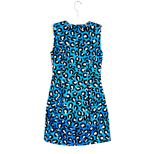 Love Moschino Leopard Print Party Dress- Front