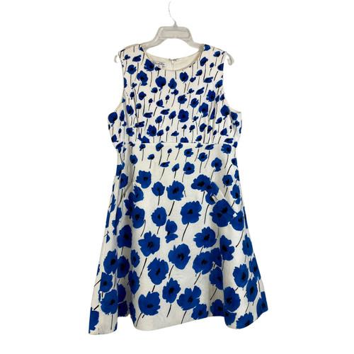 Oscar de la Renta Sleeveless Floral Printed Dress- Front