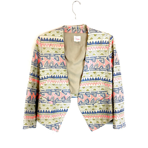 Parker Embroidered Long Lapel Blazer- Front