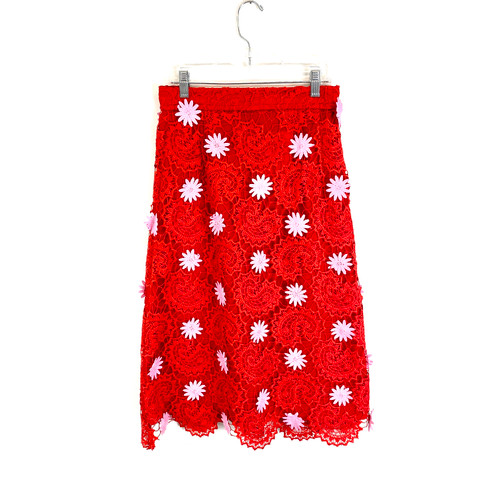 House of Holland Applique Lace Skirt- Front