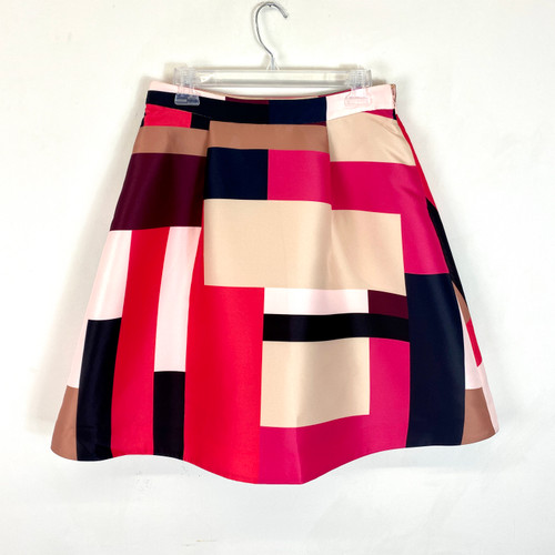 Kate Spade Colorblock A-Line Skirt- Front