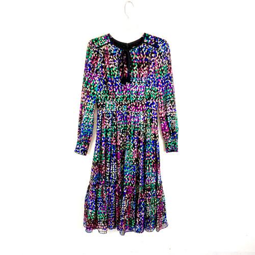 Kate Spade Long Sleeve Polka Dot Dress- Front
