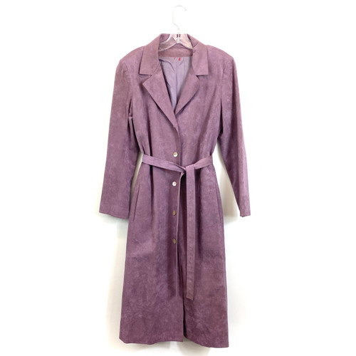 Vintage Suede Button Front Trench- Front