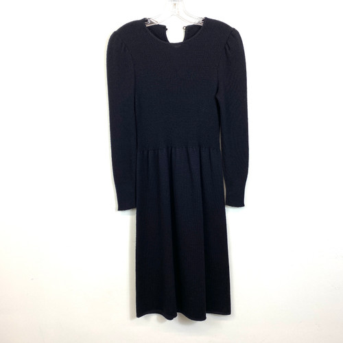 Vintage Rib Knit A-Line Sweater Dress- Front