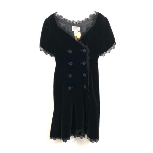 Vintage Leslie Harris Velvet Dress- Front