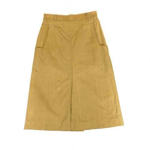 Vintage Cotton Canvas A-Line Skirt- Front