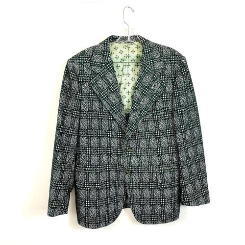 Vintage Graphic Plaid Woven Blazer- Front