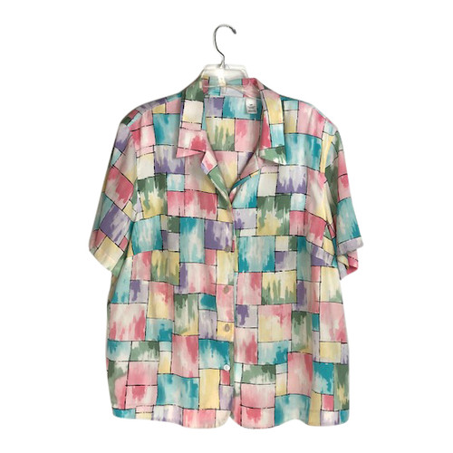Alfred Dunner Vintage Button Down Shirt- Front