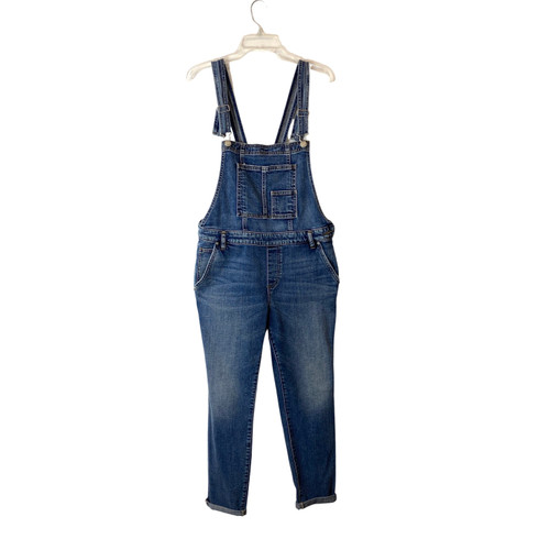 Silver Jeans Co. Medium Wash Skinny Fit Overalls- Front