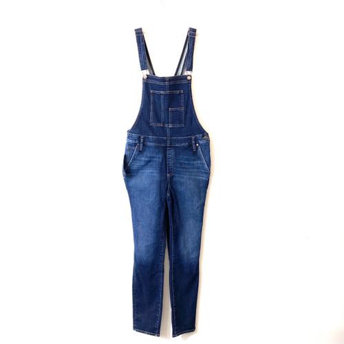 Silver Jeans Co. Dark Wash Slim Leg Overalls- Front