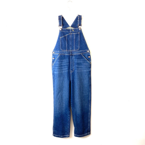 Dark Wash Denim Bib Overall- Front