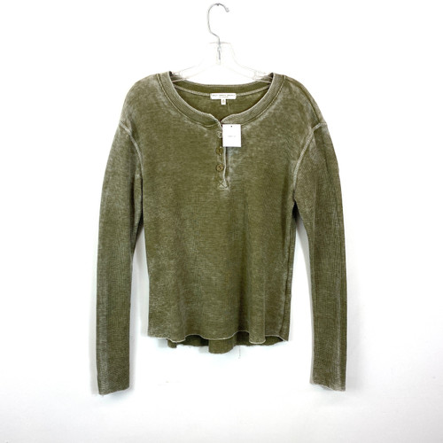 Truly Madly Deeply Long Sleeve Henley- Front