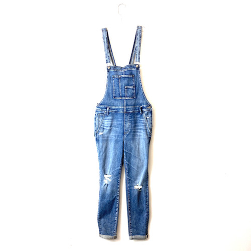 Silver Jeans Co. Medium Wash Slim Leg Overalls- Front