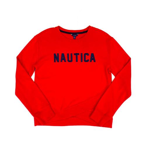 Nautica Crew Neck Knit Pullover- Thumbnail
