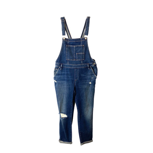 Silver Jeans Co. Dark Wash Skinny Fit Overalls- Front