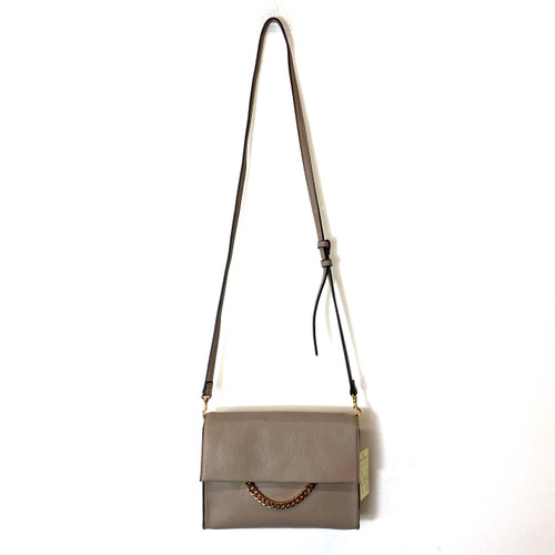 Linea Pelle Chain Accent Crossbody Bag- Thumbnail