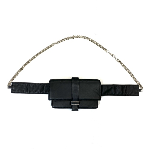 Erin Dana Chain Link Belt Bag- Thumbnail