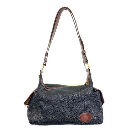 Mulberry Pebbled Leather Shoulder Bag- Front
