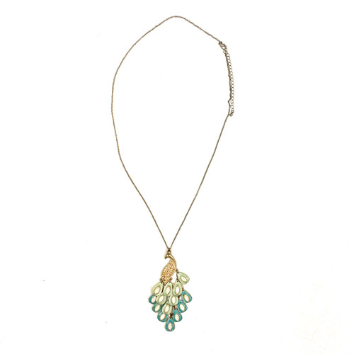 Peacock Chandelier Necklace- Thumbnail